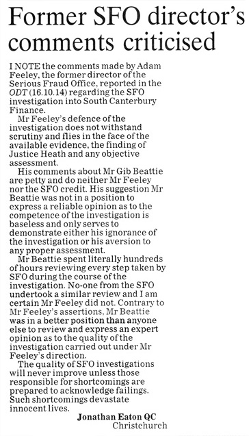 ODT 20.10.14 Letter to the editor Eaton p8