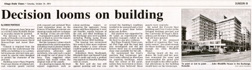 ODT 25.10.14 JWHouse - Decision looms on building p9 (2)