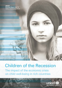 Unicef - Children of the Recession (cover) Oct 2014