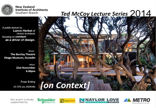 NZIA Southern - Ted McCoy Lecture Series 2014 (Lance Herbst)