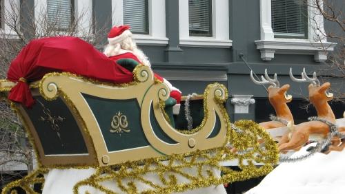 santas sleigh george st 2010