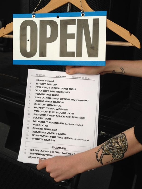 Setlist 22Nov2014 official [The Rolling Stones]