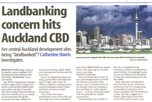 SST Business 8.11.14 Landbanking concern hits Auckland CBD pp D18-19 lowres (1)