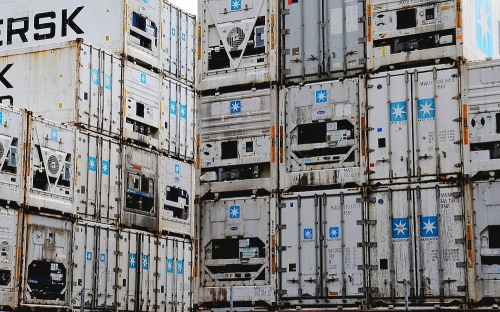 Port Otago container stack [theblackthornorphans.com] 1