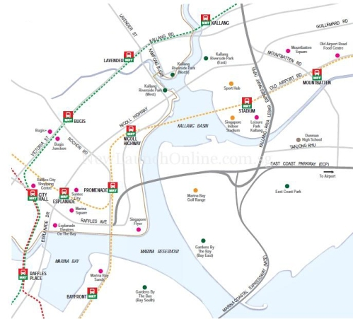 Singapore - Kallang Basin Location Map [via newlaunchonline.com.sg]