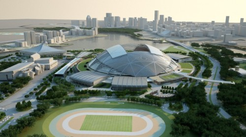 Singapore National Stadium [via blog.bouygues-construction.com]