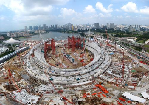 Singapore Sports Hub under construction [via tinypic.com]