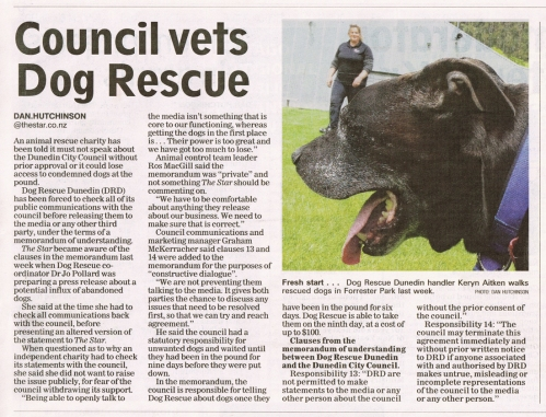 The Star 11.12.14 - Council vets Dog Rescue p3