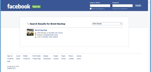 Brent Bachop at Facebook via screenshot as at 6.1.15