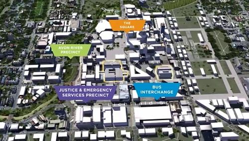 Christchurch CBD vision (labelled plan)