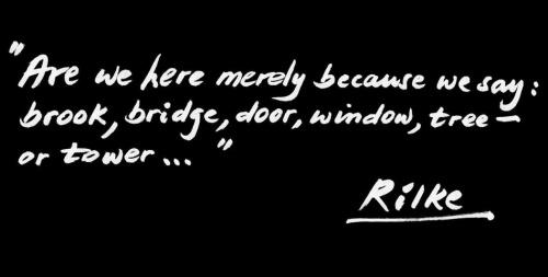 Daniel Libeskind. Rilke quote