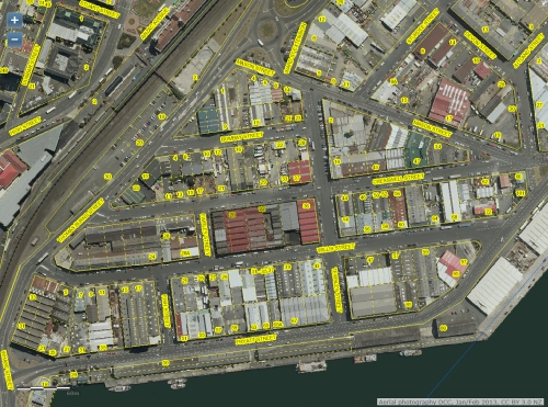 DCC Webmap - Dunedin Harbourside (detail)