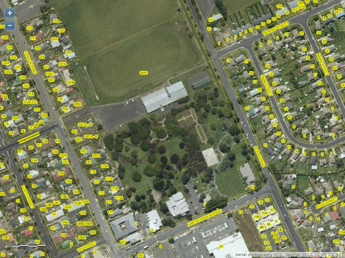 DCC Webmap - Mosgiel Memorial Park and surrounds (JanFeb2013) 1c
