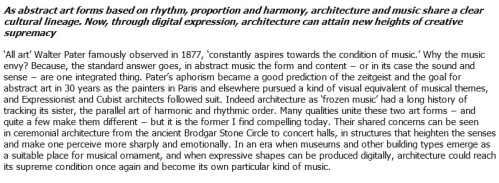 Jencks - Architecture Becomes Music. 6 May 2013 - Architectural Review 2b