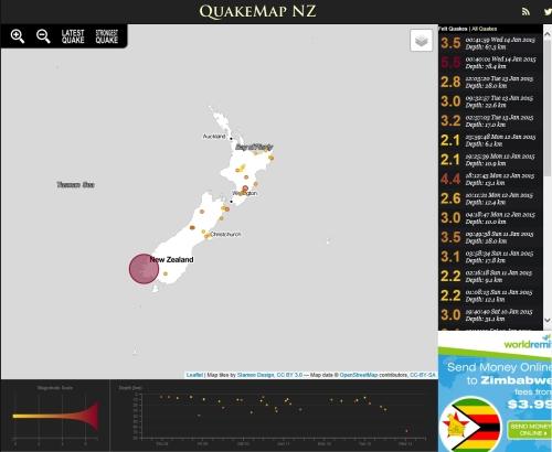 QuakeMap NZ 14.1.15 at 12.40am