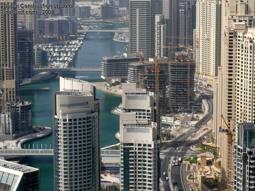 Dubai Marina - view from Torch 76th floor Sept 2009 [imredubai.blogspot.co.nz]