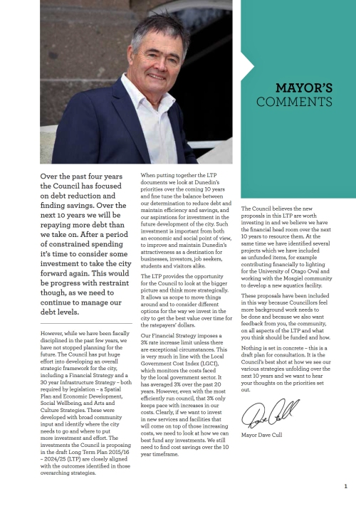 DCC draft LTP 2015-16 to 2024-25 Mayors Comments (page 1)