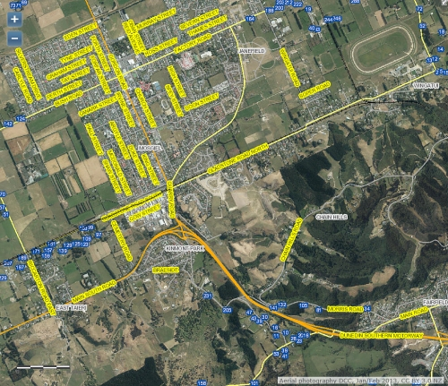 DCC Webmap - Gladstone Rd (Riccarton Rd to Wingatui) JanFeb2013