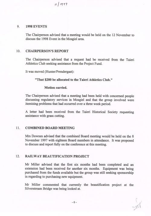 Mosgiel-Taieri Community Board minutes Nov 1997 (1)