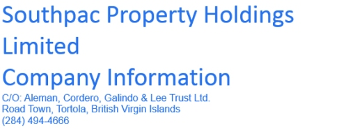 Noble - link to Southpac Property Holdings Ltd, British Virgin Is