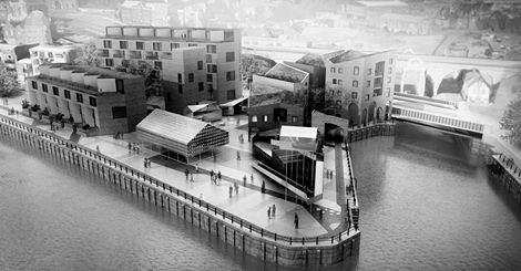 Rendering of AWP's design for Malmo Quay in Newcastle, England [Facebook - Urbanista]