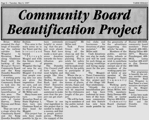 Taieri Herald 6.5.97 (page 6) Railway Beautification036 (1)