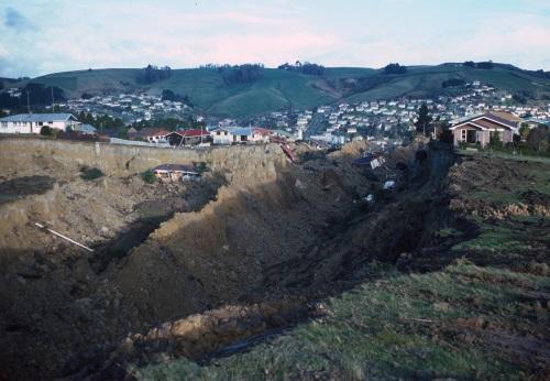 Abbotsford landslide 1979 (GNS Science, Dunedin) via ORC