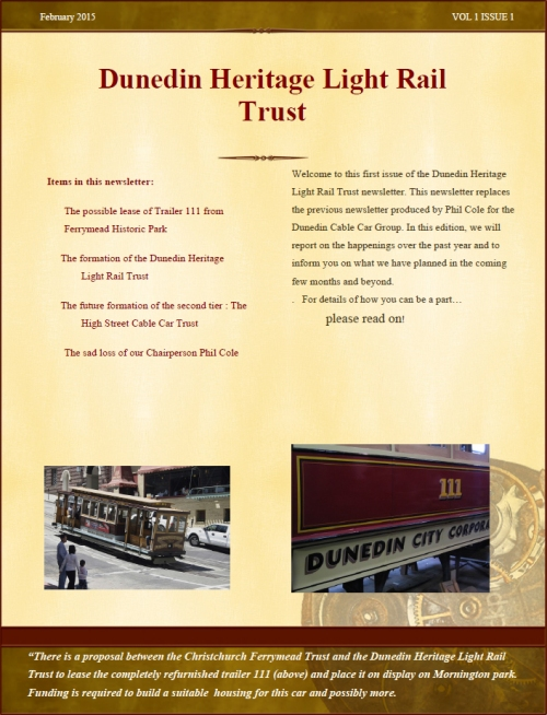DHLRT Newsletter February 2015 p1