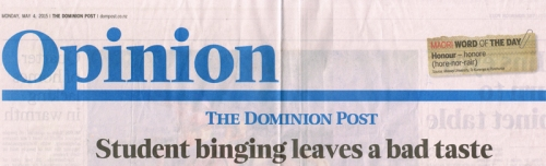 DomPost 4.5.15 Editorial - student binging pA6