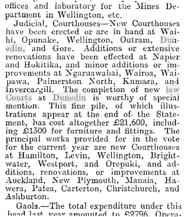 Dunedin Courthouse (fine pile) - Oamaru Mail, Volume XXVIII, Issue 7997, 17 September 1902, Page 4