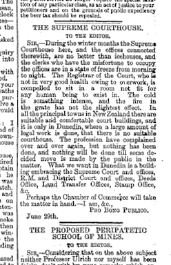 Dunedin Courthouse (needed) - Otago Daily Times , Issue 6363, 4 July 1882, Page 4