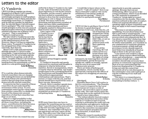 ODT 13.5.15 Letters to the editor McMillan Fox Barber Miller Parker p26