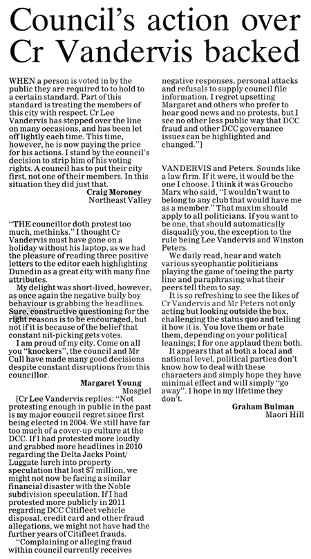 ODT 18.5.15 Letters to the editor Moroney Young Bulman p8
