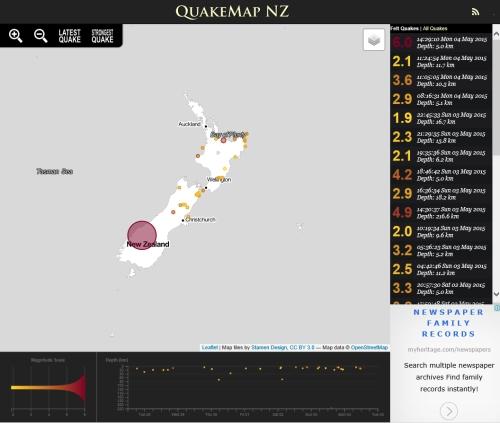 QuakeMap NZ 4.5.15 at 2.29 pm