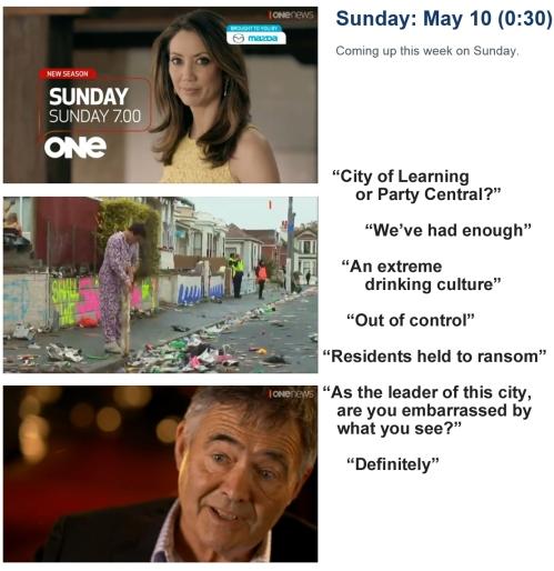 Sunday 10 May at 7pm TVI - promotion for SUNDAY