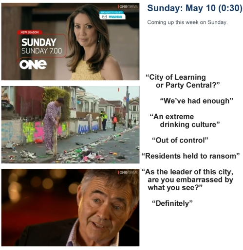 Sunday 10 May at 7pm TVI - promotion for SUNDAY