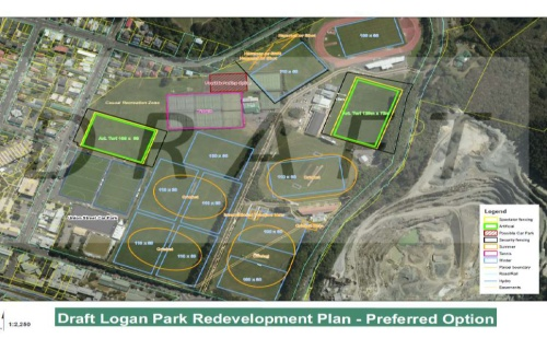 DCC - Draft Logan Park Redevelopment Plan - Preferred Option [screenshot]