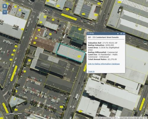 DCC Webmap - Quest Apartments 221-333 Cumberland Street