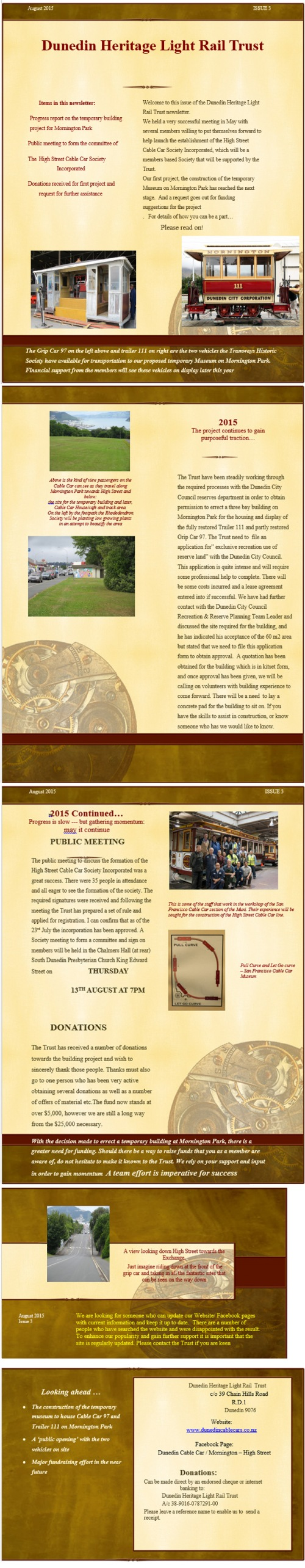 DHLRT Newsletter August 2015 Vol 1 Issue 3