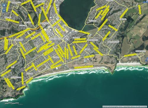 DCC Webmap - South Dunedin JanFeb 2013 1b