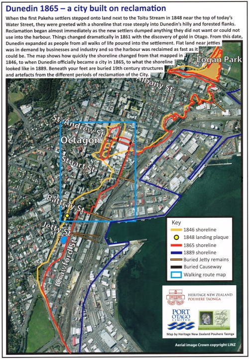 Dunedin 1865 - a city built on reclamation 2.1