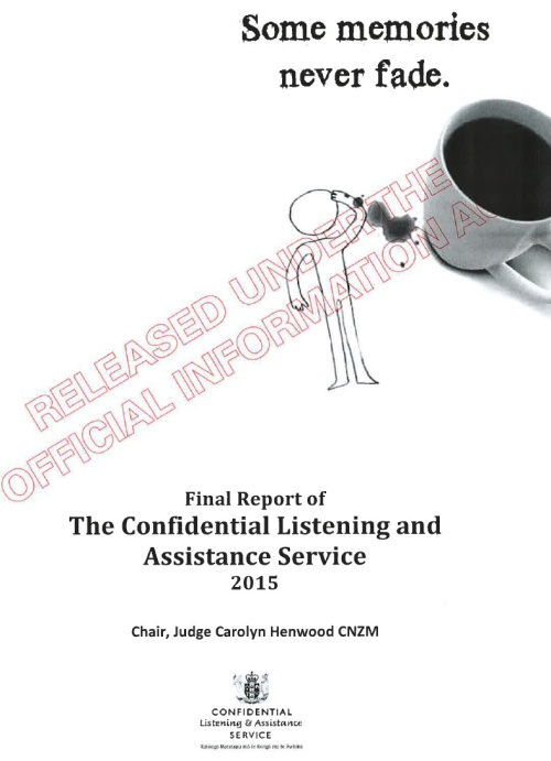 Final Report of the Confidential Listening and Assistance Service 2015 (report cover) 1
