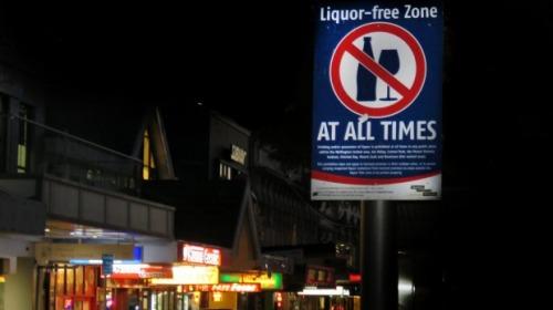 Liquor-free zone [stuff.co.nz]