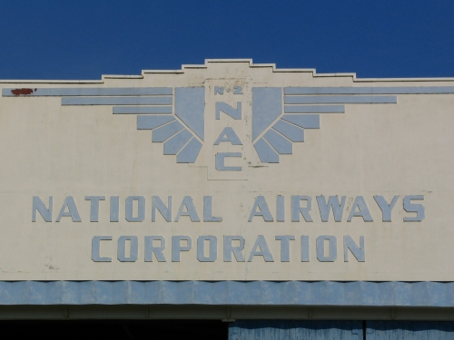 National Airways Hangar (former) logo, Dunedin [wikimedia.org]