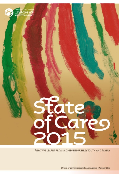 State of Care 2015 - Office of the Childrens Commissioner (front cover) 27.8.15