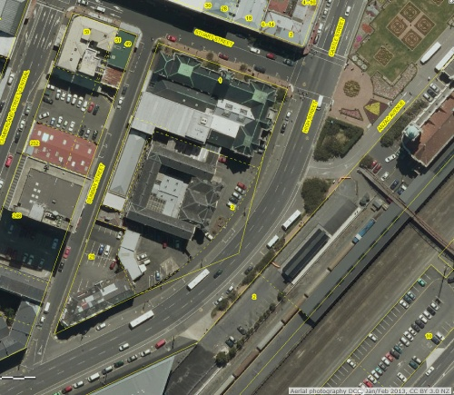 DCC Webmap - 2 Castle Street (former) Dunedin Prison