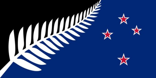 flag1 Silver Fern (Black, White and Blue)