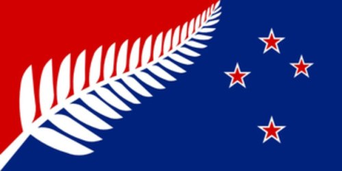 flag2 Silver Fern (Red, White and Blue)