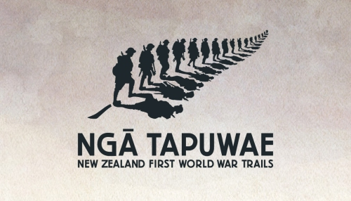 Nga Tapuwae New Zealand First World War trails logo [via ww100.govt.nz]