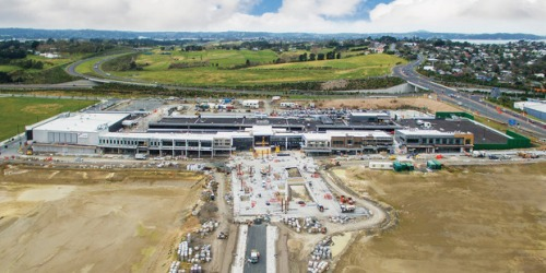 Northwest Shopping Centre at Westgate Town Centre under construction [via nzherald.co.nz]